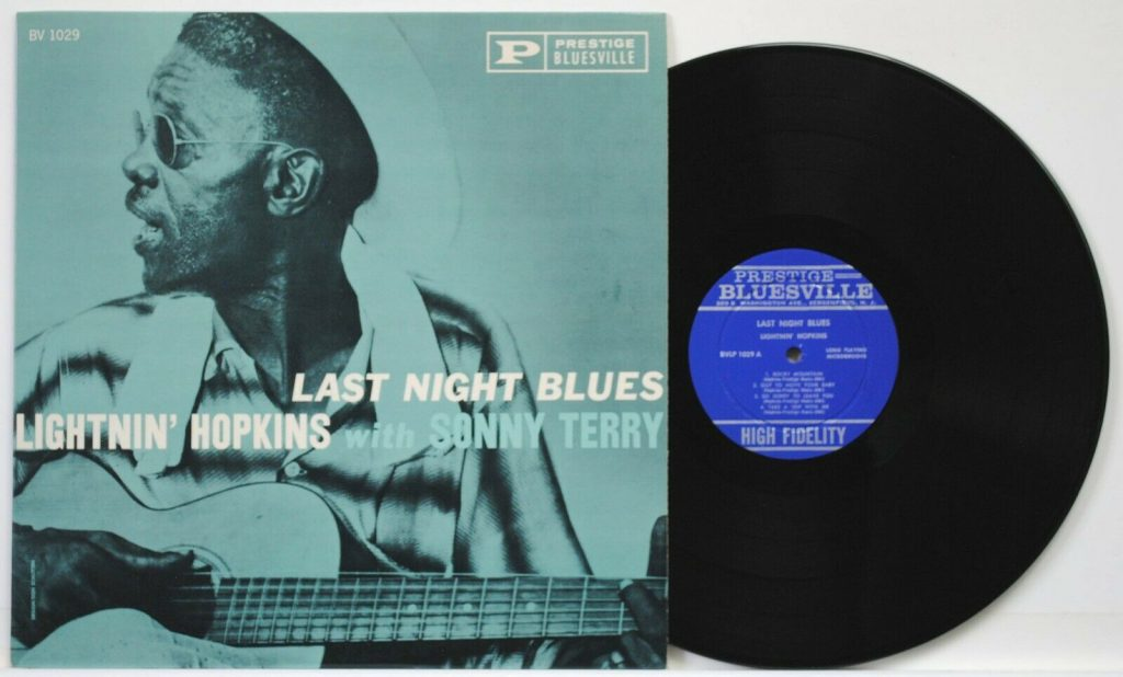 Lightnin Hopkins Vinyl Record Last Night Blues