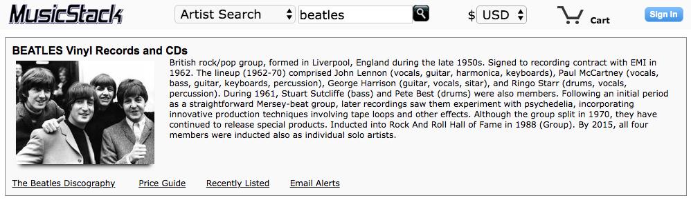 Musicstack Records Vinyl Lps