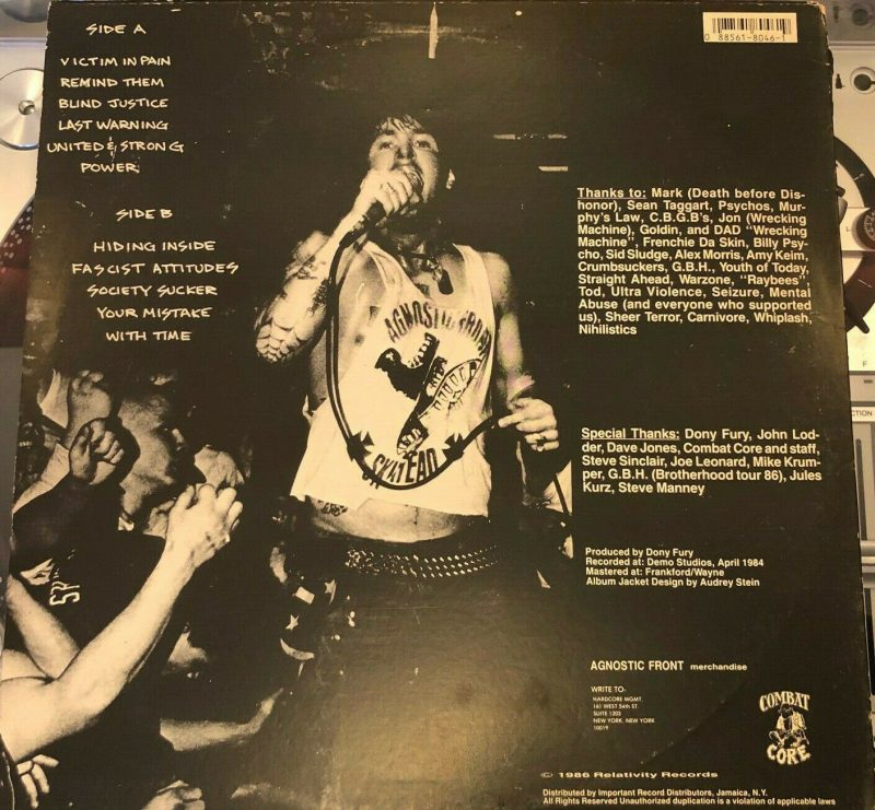 Agnostic Front Vinyl Record Lps For Sale